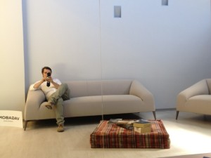 relaxing at vm34 showroom