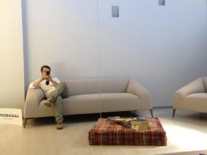 relaxing at vm34 showroom